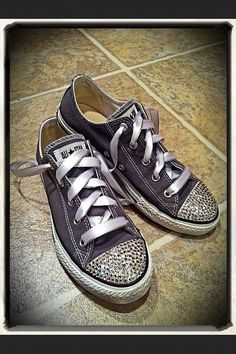 Low Top ADULT bling Converse by Munchkenzz on Etsy
