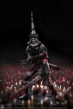 """For a while now, I've been looking forward to the indie game """"Blasphemous"""" by The Game Kitchen. I really like all of the concept art that they have shar. Blasphemous - The Penitent One Dark Fantasy, Fantasy Art, Bloodborne Art, Gothic Horror, Medieval Art, Video Game Art, Indie Games, Dark Souls, Character Design Inspiration"""