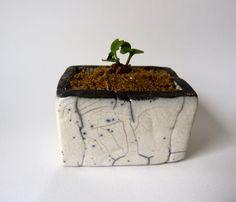 Lovely Small raku plant holder by LeRakuDYvanne Alittlemarket Etsy
