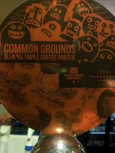 Name: Common Grounds Brewery: Magic Rock, Huddersfield, England ABV: 5.4% Style: Triple Coffee Porter - This offers no big surprises about what it is, a heavily roasted, pungent, almost espresso coffee laden brew.  It's by Magic Rock which means there's no surprise that it's this good. [8.5] #craftbeer #magicrock