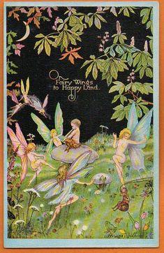 Faeries and Little Folk: Peaseblossom Fairies Vintage Fairies, Love Fairy, Beautiful Fairies, Flower Fairies, Fairy Art, Faeries, Illustrators, Fantasy Art, Fairy Tales