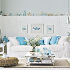 beach themed living rooms. Aqua And White Coastal Living Room 48 Living Rooms With Coastal Style  Rooms Room
