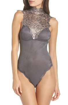 Free shipping and returns on Oh La La Cheri Violette Teddy at Nordstrom.com. Cut from soft, silky fabric and styled with a high, lacy neck, a sleek teddy is all elegance.