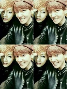 Exo Baekhyun and Bts V. Awwww mommy and her son they are just so cute. Got7, Yugyeom, K Pop, Taehyung And Baekhyun, Chanyeol, Block B, 2ne1, Laura Lee, Taemin