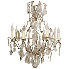 Silvered Bird Cage Form Chandelier   From a unique collection of antique and modern chandeliers and pendants at…