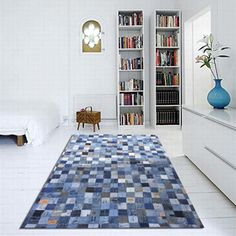 blue jean rag rug diy | Circling Geese Denim Rug Quilting Pattern