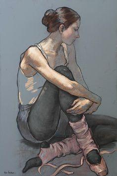 Por amor al arte: Katya Gridneva Art Ballet, Ballet Painting, Figure Painting, Painting & Drawing, Pastel Drawing, Pastel Art, Drawing Eyes, Life Drawing, Pinturas Color Pastel