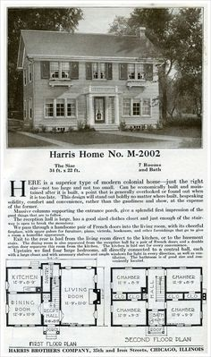 1923 Classic Colonial Revival Morgan Traditional House Plan No