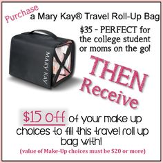 Mary Kay Back to School SPECIALS!!!! Take out the stress of your holiday by getting a head-start on your Christmas shopping! Limited time offer! All purchases should be made through my business page at: https://www.marykay.com/lisa1022 <3