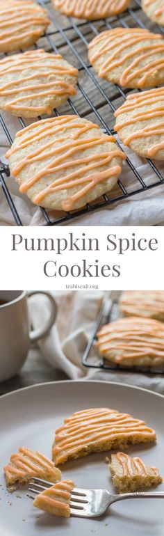 The BEST ever Gluten Free Pumpkin Spice Cookies with Orange! You won't taste a nicer cookie this fall!   teabiscuit.org