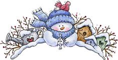 Winter Snowman Topper