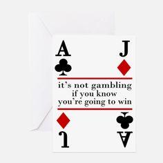 funny gambling vintage poker t-shirt Greeting Card for