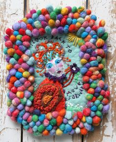 Small romantic colorful wallhanging with painted by LaRosaRosa, €70.00