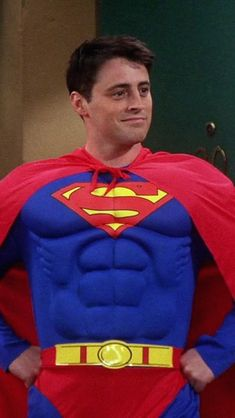Joey Tribbiani as Superman. Friends Tv Show, Tv: Friends, Friends Trivia, Serie Friends, Friends Cast, Friends Moments, I Love My Friends, Friends Forever, Joey Tribbiani