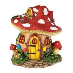 Fairy Village House Statue Color: Mushroom by Wayfair