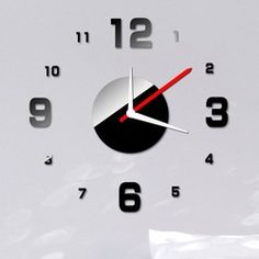 Online Shop Simple Digits Wall Clock Sticker Set Creative DIY Mirror Effect Acrylic Glass Decal Home Living Room Removable Decoration|Aliexpress Mobile -- like the all silver better