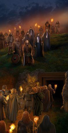 Funeral of Haldad, Haldar and the Men of Brethil. by steamey on deviantART
