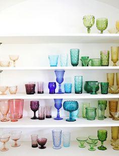 In Progress—Elsie's Rainbow Glassware Collection!