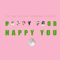 Happy food happy you Membership Happy Foods, I Am Happy, Movie Posters, Health, Im Happy, Film Poster, Billboard, Film Posters