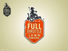 March 2013: Logo for Full Throttle Lawn Service by Scribe