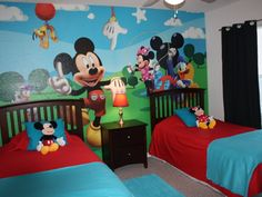 Decoration: Mickey Mouse Walt Disney Minnie Doll Bed Wallpaper Pluto Red Blue Black Night Lamp Light Kids Artwork Fur Rug Carpet Wooden Floor Table Chair Cupboard Picture Frame Wall Painting Decoration Colored White: KIDS ARTWORK DECORATION FOR YOUR HOME