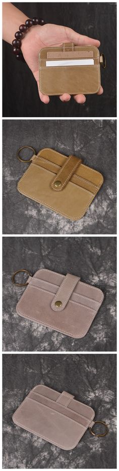 Handmade Genuine Leather Wallet Unisex Card Holder