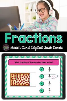 Looking for digital practice identifying fractions? This set of multiple choice Boom Card digital task cards asks students to identify fractional parts of wholes using illustrated versions of real world examples. Halves through sixths are represented. Get ready for some digital fraction center fun with these self-checking fraction math centers! Great for 2nd grade or 3rd grade math work! Teaching Second Grade, Second Grade Teacher, 2nd Grade Classroom, Third Grade Math, Math Work, Teaching Phonics, Math Fractions, Multiple Choice, Elementary Math