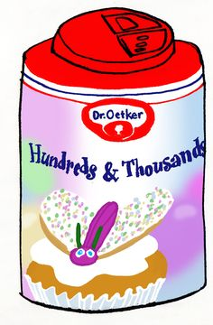 https://flic.kr/p/5HUZ6M   Dr. Oetker Hundreds and Thousands   Popular terminology tends to overlap, while manufacturers are more precise with their labeling. What consumers call sprinkles covers several types of candy decorations which are sprinkled informally over a surface rather than placed in specific spots. Sanding sugar; crystal sugar; nonpareils; silver, gold, and pearl dragées — not to be confused with pearl sugar (which is also sprinkled on baked goods); and hundreds-and-thousands…