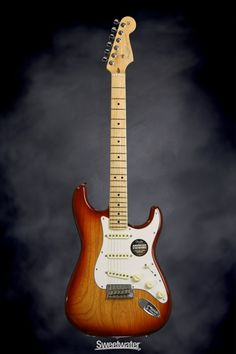 Fender American Standard Stratocaster - Sienna Sunburst, Maple | Sweetwater.com | Solidbody Electric Guitar with Ash Body, Maple Neck/Fingerboard, 3 x Custom Shop Single-coil Pickups, and Hard Case - Sienna Sunburst