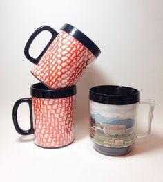 Vintage Uhaul mugs Thermo serve and Eagle by tompkinsoriginal