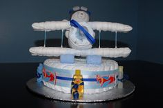 Sweet Mommy Treats: Airplane Diaper cake