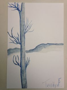 Water color trees 12/16