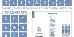 Logodesign, brochure og messebanner til NGO Uddannelsesnetværket.