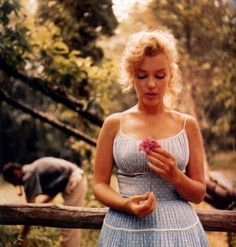 Marilyn Monroe's Blue Polka Dot Cotton Summer Dress Custom Made to Fit You