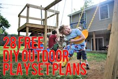 The Ultimate Collection of Free DIY Outdoor Playset Plans