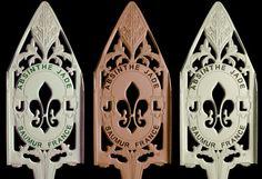 Jade Absinthe Spoon In Nickel And 24K Gold