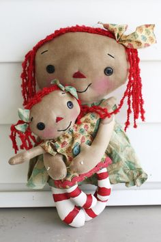 Sweet Faced Mommy and Baby Annie  Primitive by HeartstringAnnie, $35.00