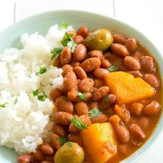 Puerto Rican Rice and Beans (Habichuelas Guisadas) Great recipe, I definitely recommend. - Puerto Rican Rice and Beans (Habichuelas Guisadas) Recipe on Yummly. Rice And Beans Recipe Puerto Rican, Cuban Rice And Beans, Spanish Rice And Beans, Puerto Rican Beans, Dominican Red Beans Recipe, Spanish Red Beans Recipe, Dominican Food, Puerto Rican Dishes, Spanish Rice With Olives Recipe