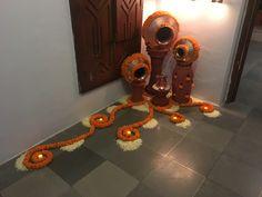 44 Diwali DIY Decoration Ideas (You Must Try) - tanaya Diwali Decoration Lights, Diwali Decorations At Home, Decoration For Ganpati, Diy Wedding Decorations, Festival Decorations, Flower Decorations, Diy Flowers, Flower Ideas, Janamashtami Decoration Ideas