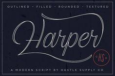 Harper Script by Hustle Supply Co. on @creativemarket
