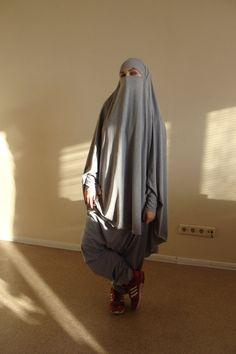 Ready to ramadan Franch khimar suit Muslim sport suit Harem