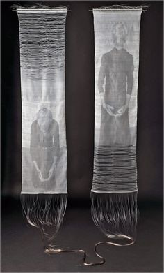 Ainsley Hillard - Flow ¦ 2012 Photographic images heat-transferred onto a viscose weft; hand woven, hand-dyed nylon  Wales, United Kingdom
