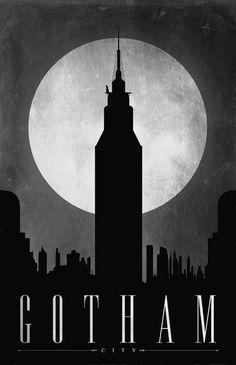 Justin Van Genderen, Art Deco style poster - Gotham on ArtStack #justin-van-genderen #art