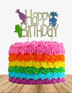 A personal favorite from my Etsy shop https://www.etsy.com/listing/558115207/troll-cake-topper-troll-birthday-cake