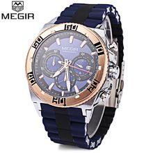 MEGIR Watches Men Multifunction Fashion Quartz Watch Top Brand Chronograph Calendar Luminous Pointer Water Resistance Wristwatch(China (Mainland))