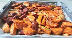 תפוחי אדמה פריכים וקרנצ'ים בתנור, עם פפריקה אדומה וירקות שורש, הם תוספת חיננית, טעימה וקלה להכנה לכל ארוחה בשרית.