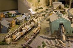 HO scale lumber mill