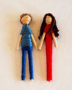 DIY Toothpick Dolls -