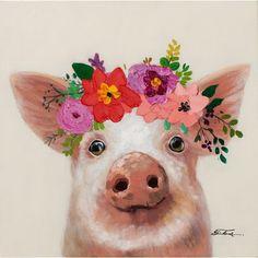 On canvas East Urban Home Animal Paintings, Animal Drawings, Watercolor Animals, Watercolor Art, Pop Art, Barnyard Animals, Simple Acrylic Paintings, Cute Cows, Art Plastique