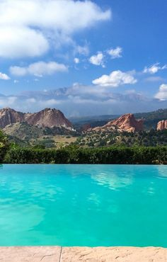 Possibly the greatest pool view of all time. The Garden of the Gods Club in Colorado Springs is beyond gorgeous.
